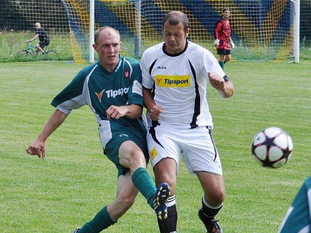 Fotbalisté Bělčic prohráli venku se Záblatím 0:2, když oba góly inkasovali ve druhé půli.