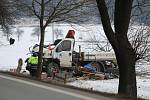 Nehoda 27. února u Vodňan.