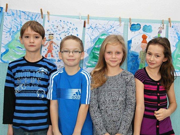 Adéla Johanesová, Eliška Poskočilová, David Doležal a Marek Nejdl ze třídy 3. B Základní školy Poděbradova ve Strakonicích
