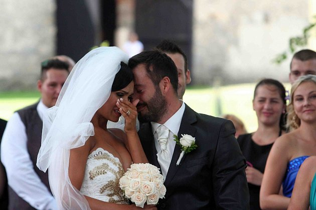 Svatba Gábiny Dvořákové a Václava  Noida Bárty na Jedraži