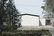 Návrhy na novou smuteční síň ve Vodňanech.