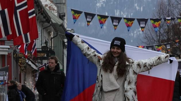 Sára Veselková na olympiádě V Lillehammeru.