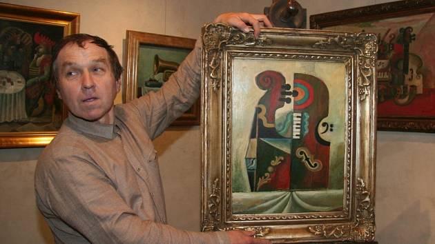 Výstava je k 80. narozeninám Karla Franty.