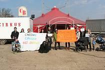 Protestní shromáždění za cirkusy bez zvířat