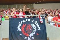 Strakoničtí Slávisté vyrazili na ligový zápas s Olomoucí.