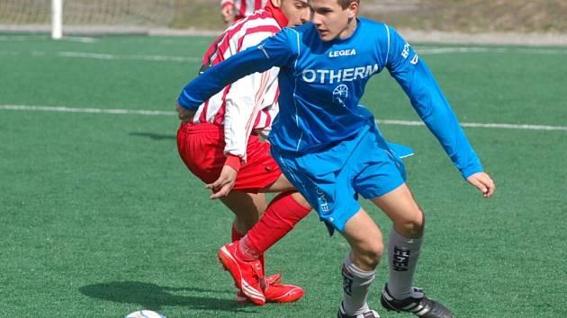 Jediný gól týmu staršího dorostu Strakonic dal Klatovům Vítězslav Hanáček. Jihočeši prohráli 1:2.