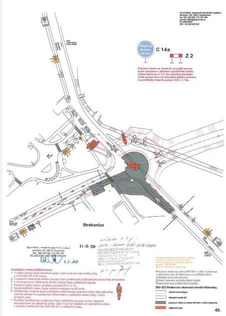 Uzavírka ulice Blatenská ve Strakonicích