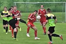 Fotbalový krajský přebor: Osek - Třeboň 0:4.