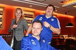 Katovičtí fotbalisté se sešli v Měšťanském pivovaru se svými podporovateli.