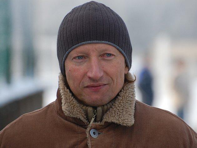 Trenér FK Vodňany Miroslav Vokatý.