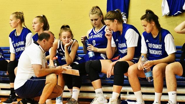 Basketbalistky BK Strakonice.