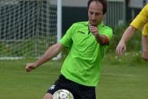 Zdeněk Mikeš dal vedoucí gól Sedlice, tým ale vedení neudržel a remizoval 1:1.