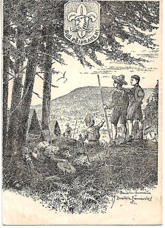 Tábor vodních skautů Boubín.