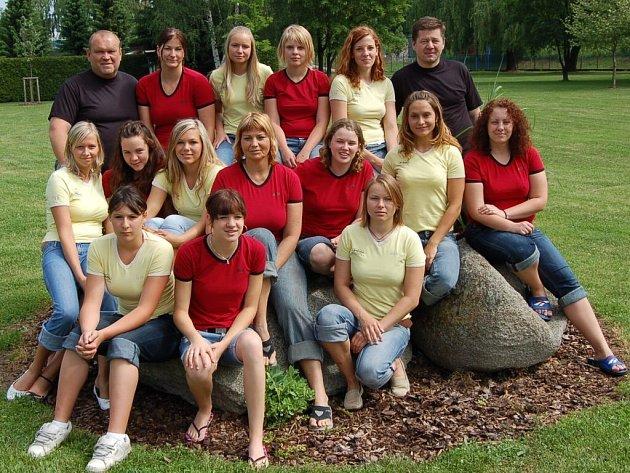 Vítězný tým pólistek
