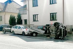 Nehoda na Podsrpu ve Strakonicích.