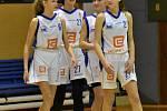 Liga mladších žákyň: Strakonice - Slovanka B 87:30 (44:15).