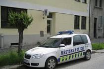 Automobil Městské policie Strakonice.