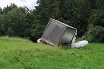 Nehoda kamionu u Modlešovic.