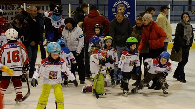 Týden hokeje přilákal desítky dětí.