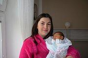 Ema Kolesárová, Vodňany,  5. 4. 2018 ve 3.33 hodin, 3450 g. Malá Ema je prvorozená.