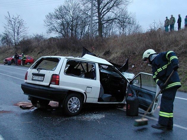 Sobotní nehoda poblíž Újezdu u Vodňan