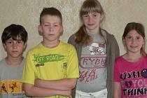 David Nerin (10), Filip Boček (10), Míša Roučková (11), Petra Kunešová (10).