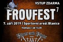 V sobotu 7. září od 13.30 se ve Sportovním areálu Blanice ve Vodňanech koná sedmý ročník festivalu FROVfest.