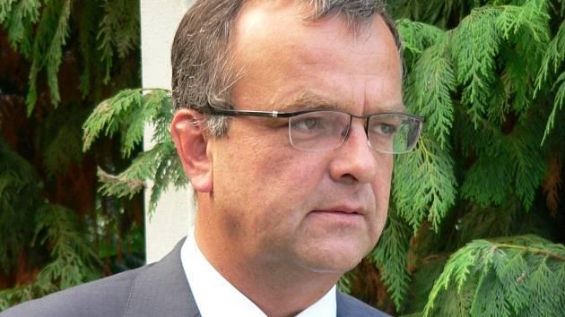 Ministr financí Miroslav Kalousek ve Strakonicích.