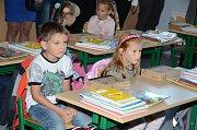 První školní den na ZŠ Povážská ve Strakonicích.