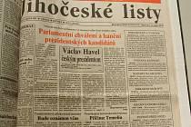 Fotostrana z volby v jihočeských listech.