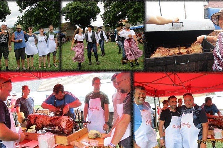 V Záboří se konala soutěž v pečení prasat.