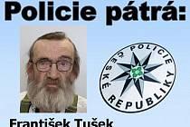 Policie vyhlásila pátrání po Františku Tuškovi ze Strakonic.