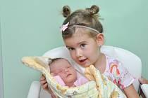 Sofie Blatská ze Strakonic. Sofinka se narodila 16. 8. 2019 v 8.18 hodin a její porodní váha byla 4 380 gramů. Na sestřičku se doma těšila tříletá Sára.