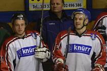 Proti Příbrami se dvakrát prosadili útočníci Ervín Binder a Jakub Major (zleva).