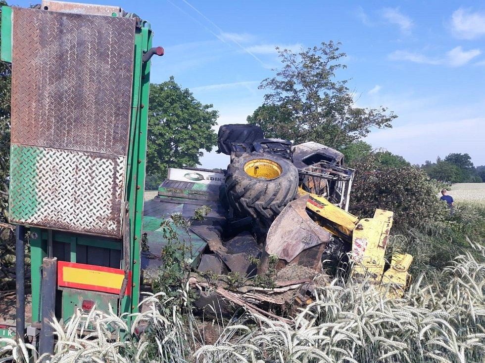 V kamionu uhořel řidič