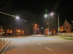 Osvětlený přechod ve Vodňanech.