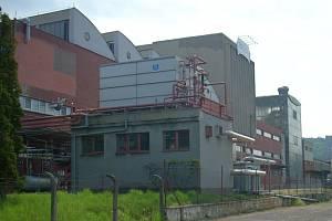 Objekt strakonické mlékárny v dubnu 2009, rok před uzavřením provozu.