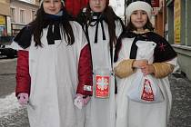Tři králové. Zleva: Nela Hroudová, Lubomíra Hájková, Michaela Solařová a Alexandra Školníková.
