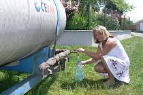 Cisterna na návsi ve Slaníku je už minulostí