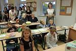 První školní den v ZŠ Střelské Hoštice.