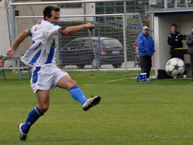 Martin Vozábal dal proti Koloveči dva pěkné góly.