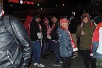 Fanoušci Slávie ze Strakonicka si postup náležitě užívali.
