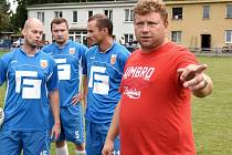 Trenér FK Junior Luděk Cimrhanzl.