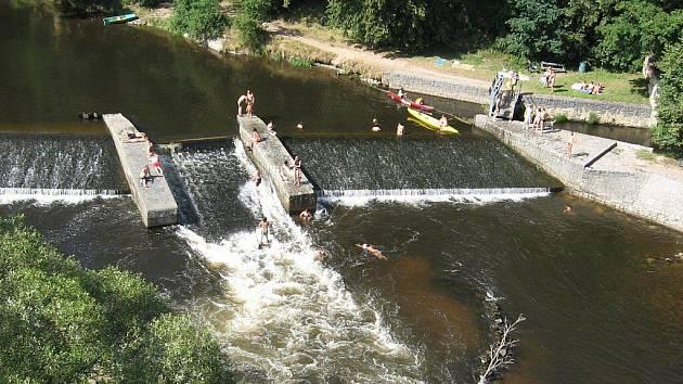 Jez ve Štěkni v létě 2008.