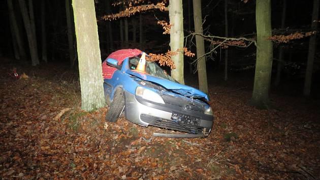Jedenadvacetiletý řidič zemřel při tragické nehodě. Stala se v noci na sobotu na Vodňansku.