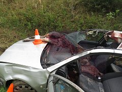 Po střetu s laní musel být řidič ošetřen. Bylo obrovské štěstí, že místo spolujezdce bylo v době nehody prázdné.