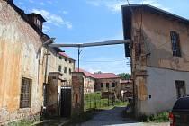 Bývalý objekt Fezka na strakonickém Ostrově.