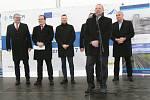 Slavnostní zahájení výstavby severního dopravního půloblouku ve Strakonicích.