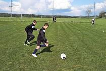 V Oseku se začalo trénovat, hned jak to dovolily podmínky.