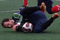 Sedlice podlehla Čížové 0:3. Na snímku je Zdeněk Mikeš.